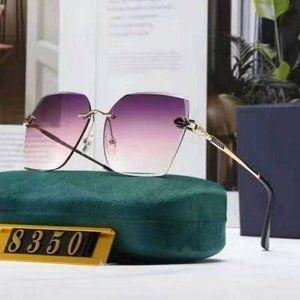 GG Sunglasses Rimless Pick Gold YS007$